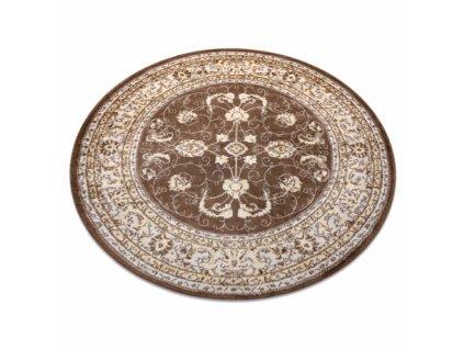 Kulatý koberec MEFE 2312 Ornament tmavě béžový