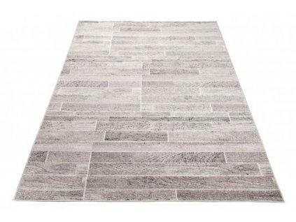 Moderní kusový koberec FIESTA 36120/36966 Parkety šedý / béžový