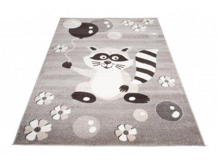 Dětský kusový koberec FIESTA 36212/37122 Míša Balónky šedý
