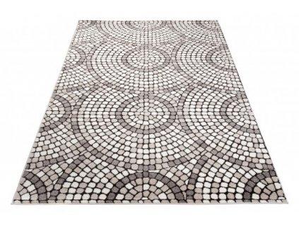 Moderní kusový koberec FIESTA 36134/36966 Mozaika Kámen šedý / béžový