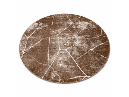 Kulatý koberec MEFE 2783 Mramor tmavě béžový