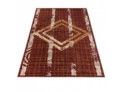 Moderní kusový koberec ATENA FM35A hnědý