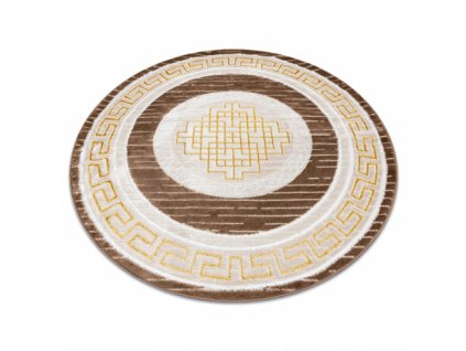 Kulatý koberec MEFE 9096 béžový / hnědý