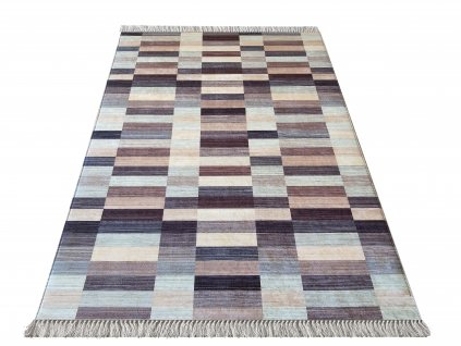 Kusový koberec protiskluzový Blanka 01 hnědý