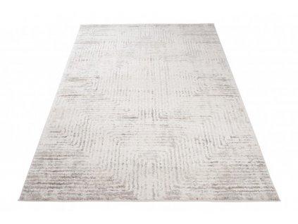 Moderní kusový koberec TROYA V481E krémový / hnědý
