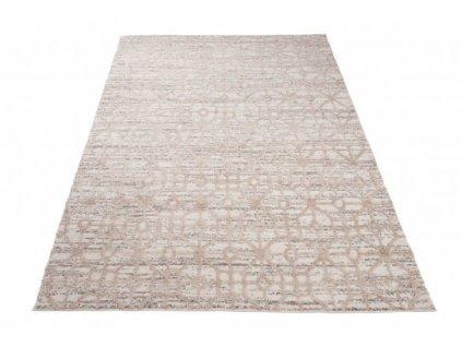 Moderní kusový koberec TROYA V470F krémový / hnědý