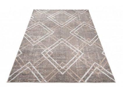 Moderní kusový koberec TROYA V454A šedá / béžová