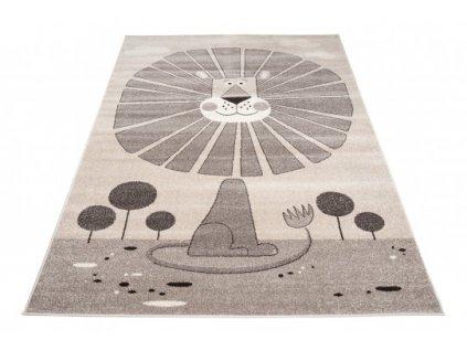 Dětský kusový koberec FIESTA 36144/36966 Lev hnědý