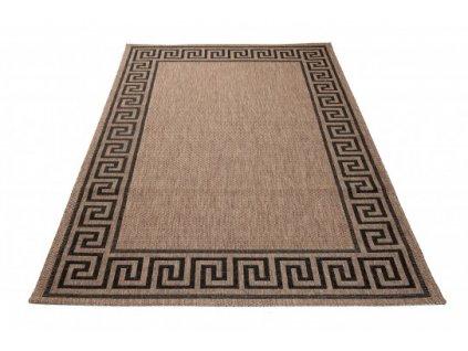 Kusový koberec Sisal Floorlux 20014 Coffee / Black