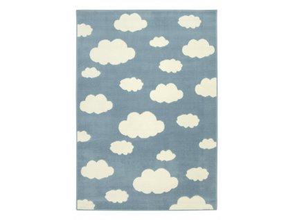 Dětský kusový koberec LUNA KIDS 533911/94922 Mráčky modrý / krémový
