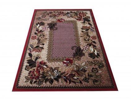 Kusový koberec BCF Alfa 01 Květy červený