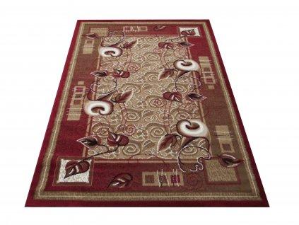 Kusový koberec BCF Alfa 11 Květy červený