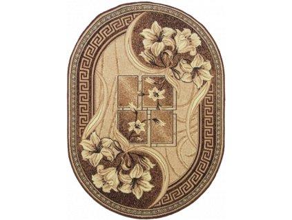 Oválný koberec GOLD 365/12 béžový