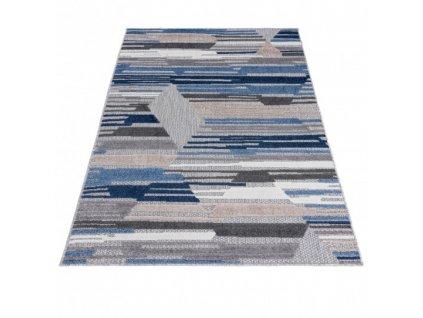 Moderní kusový koberec AVENTURA ED04A šedý / modrý