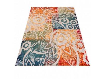 Moderní kusový koberec AVENTURA ED27A Květy vícebarevný