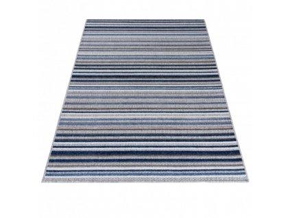 Moderní kusový koberec AVENTURA ED23A Proužky šedý / modrý