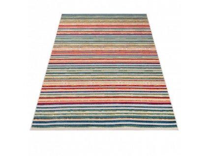 Moderní kusový koberec AVENTURA ED23A Proužky vícebarevný