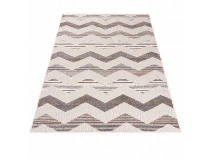 Moderní kusový koberec AVENTURA EC92D Vlnky krémový