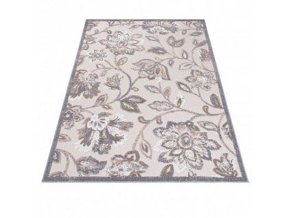 Moderní kusový koberec AVENTURA EC93B Květy krémový