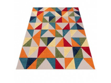 Moderní kusový koberec AVENTURA EC96A  Trojúhelníky vícebarevný