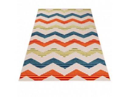 Moderní kusový koberec AVENTURA EC92A Vlnky vícebarevný