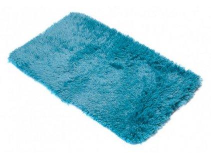 Koupelnová předložka SILK ARTS-61 modrá 60 x 100