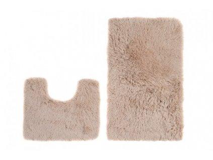 Koupelnová a WC předložka SILK ARTS-72 béžová 50 x 80