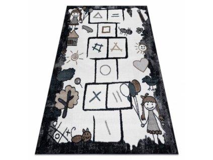 Dětský kusový koberec FUN Skákací panák černý