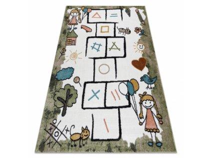 Dětský kusový koberec FUN Skákací panák zelený