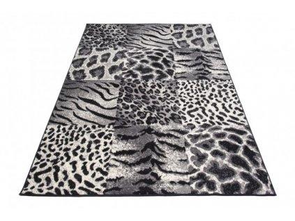 Kusový koberec J318B CHEAP Zvířecí kůže černý
