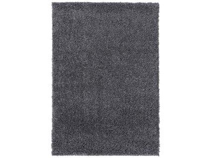 Kusový shaggy koberec jednobarevný SOHO P113A šedý 2