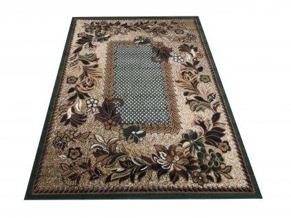 Kusový koberec BCF Alfa 01 Květy zelený