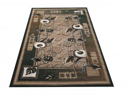 Kusový koberec BCF Alfa 11 Květy zelený