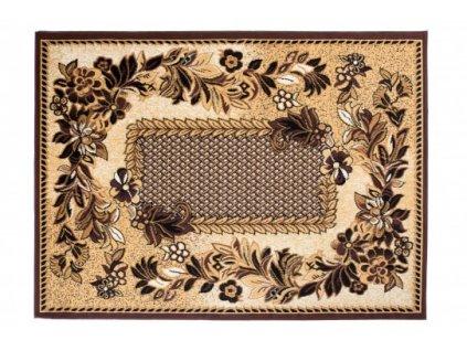 Kusový koberec klasický BALI C577E Květy hnědý / krémový
