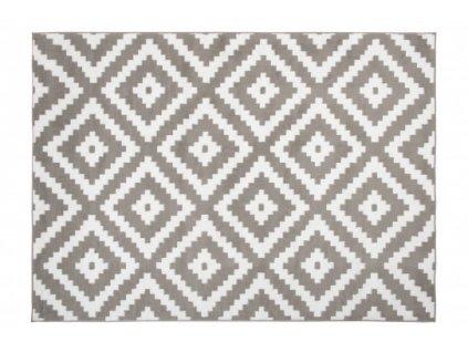Moderní kusový koberec BALI C430A světle šedý / bílý