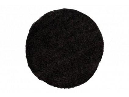 Kulatý shaggy koberec jednobarevný SOHO P113A Antracitový