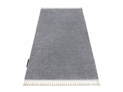 Kusový koberec BERBER 9000 Jednobarevný světle šedý