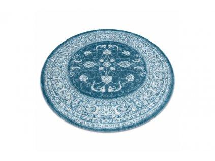 Kulatý koberec MEFE 2312 Klasický modrý krémový