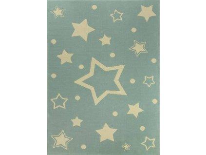 Dětský kusový koberec KIDS 533743/85855 modrý-hvězdy