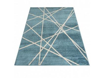 Moderní kusový koberec SPRING H175A Tyrkysový modrý