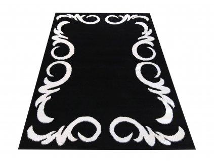 Moderní kusový koberec Soho 02 černý / bílý