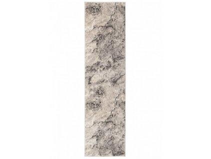 Běhoun FIESTA 36125/36926 Abstraktní šedý / béžový