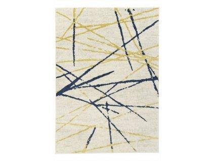 Moderní kusový koberec EMILY 2355A béžový / žlutý / modrý