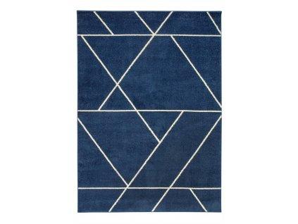 Kusový koberec Emily 2921A Geometrický vzor modrý