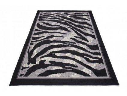 Kusový koberec 6601C CHEAP Černý / bílý