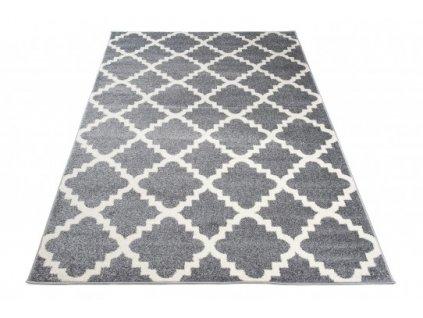 Moderní kusový koberec MAROKO L890A šedý / bílý