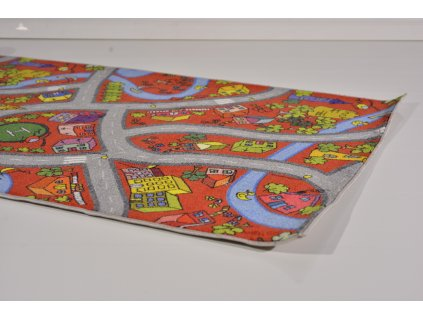 Dětský kusový koberec Cars 10 Uličky červený 3