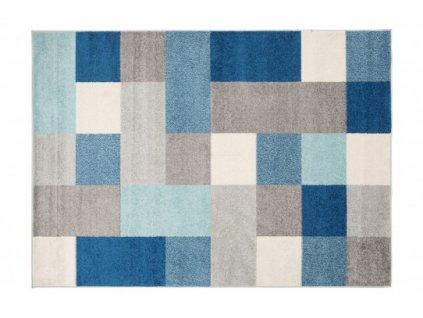 Kusový koberec LAZUR C574B šedý / modrý