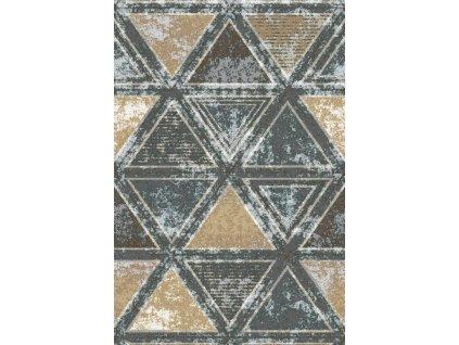 Kusový koberec vlněný Agnella Basic Kalme Grafit Šedý / Béžový
