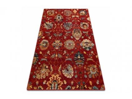 Kusový koberec vlněný Dywilan Superior Latica Rubin Červený